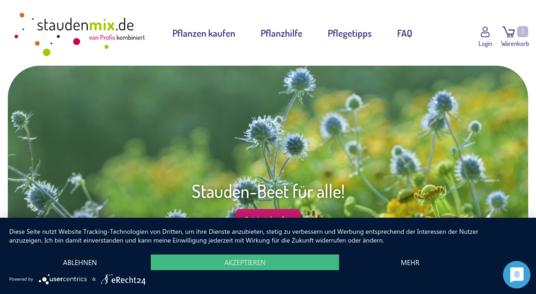 Portfolio-Ansicht Webseite Staudenmix